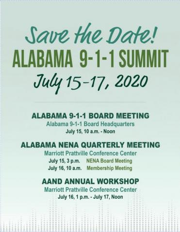 Alabama 9-1-1 Summit Flyer